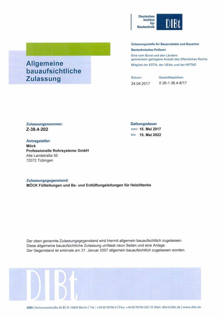 Zulassung TBE 2017 (Deutsch, 05.2017 - 05.2022)