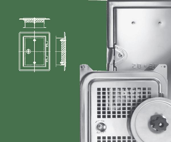 Kamintüren und Lüftungstüren Slider
