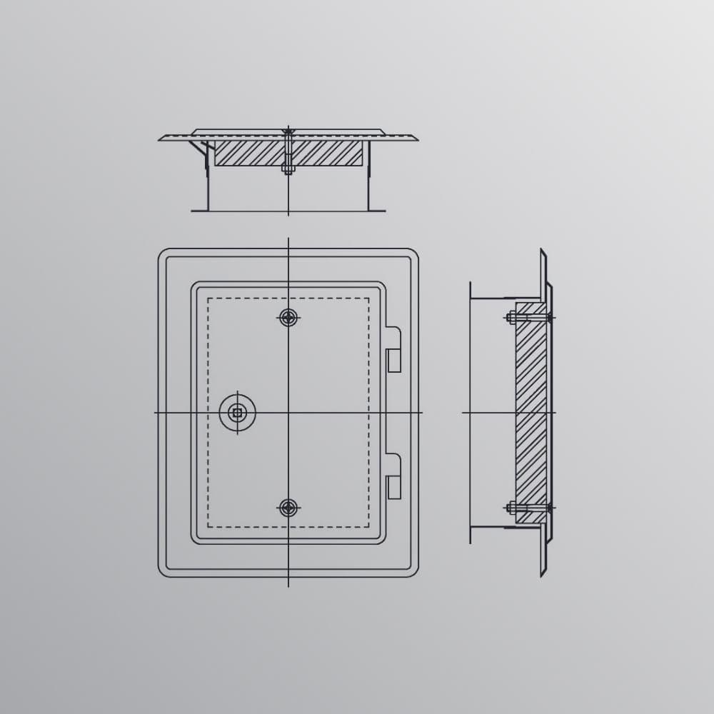 Kamintüren aus bandverzinktem Stahl