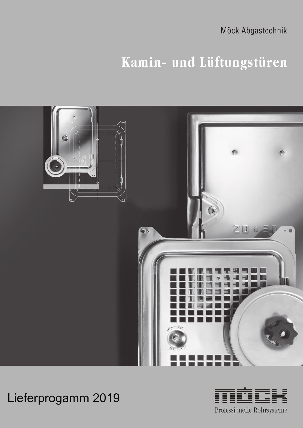 Lieferprogramm Kamin- und Lüftungstüren (Deutsch, 2019)