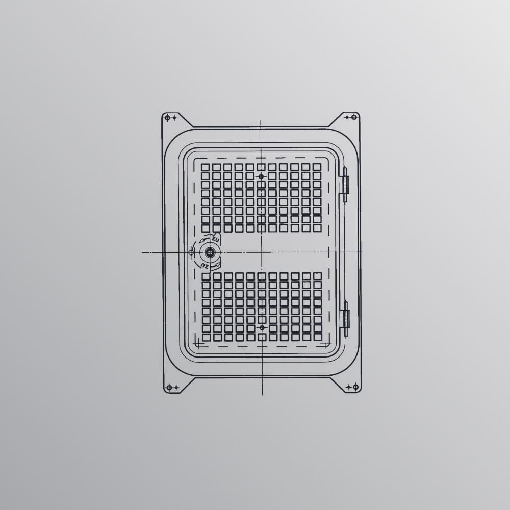 Lüftungstür aus bandverzinktem Stahl